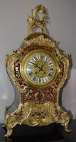 Large Impressive Boulle Tortoishell Mantel / Table Clock (2 of 7)