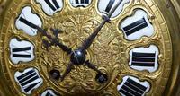 Large Impressive Boulle Tortoishell Mantel / Table Clock (7 of 7)