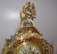 Large Impressive Boulle Tortoishell Mantel / Table Clock (6 of 7)