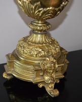 Large Impressive Vase Bronze French Victorian Mantel / Table Clock (3 of 7)