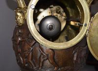 Large Impressive Vase Bronze French Victorian Mantel / Table Clock (5 of 7)
