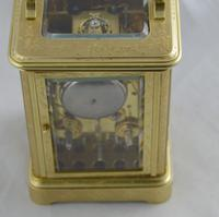 Le Cheminant London Bell Strking Engraved Carriage Clock (2 of 7)