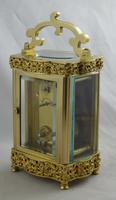 French Brass Cased Douchine Carriage Clock & Box (3 of 6)