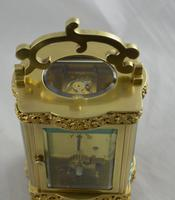 French Brass Cased Douchine Carriage Clock & Box (6 of 6)