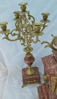 French Candelabra Clock Set c.1895 (6 of 6)