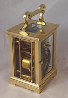 French Brass Striking Carriage Clock c.1900 (2 of 3)