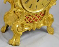 Viner & Co London Ormolu Fusee Mantel Clock (4 of 5)