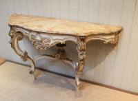 Pair of Painted Console Tables c.1880 (8 of 8)