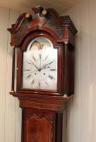 Mahogany & Inlay Centre Seconds Longcase Clock, England c.1790 to c.1800 (3 of 16)
