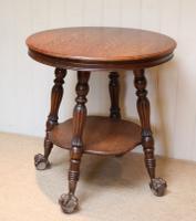Circular Oak Table c.1910 (2 of 8)