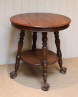 Circular Oak Table c.1910 (3 of 8)