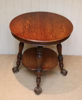 Circular Oak Table c.1910 (4 of 8)