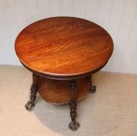 Circular Oak Table c.1910 (7 of 8)