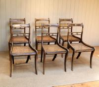 Set of Six Regency Cane Seat Chairs (3 of 8)