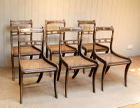 Set of Six Regency Cane Seat Chairs (5 of 8)