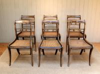 Set of Six Regency Cane Seat Chairs (7 of 8)