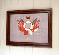 Victorian Framed Naval Embroidery