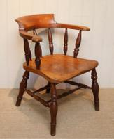 Elm & Beech Bow Armchair c.1880 (7 of 8)