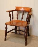 Elm & Beech Bow Armchair c.1880 (4 of 8)