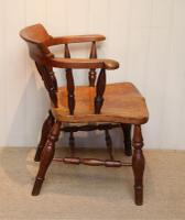 Elm & Beech Bow Armchair c.1880 (6 of 8)