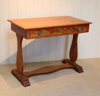 Satinwood Lyre End Table c.1890 (6 of 8)