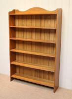 Edwardian Light Oak Open Bookcase (2 of 9)