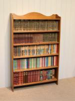 Edwardian Light Oak Open Bookcase (3 of 9)