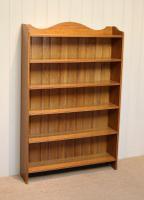 Edwardian Light Oak Open Bookcase (4 of 9)