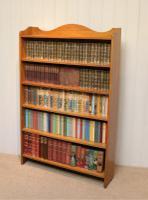 Edwardian Light Oak Open Bookcase (5 of 9)
