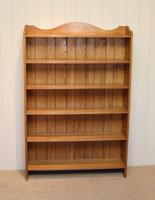 Edwardian Light Oak Open Bookcase (6 of 9)