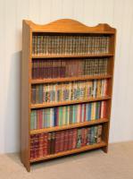 Edwardian Light Oak Open Bookcase (7 of 9)
