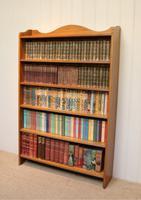 Edwardian Light Oak Open Bookcase (9 of 9)