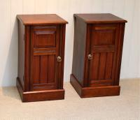Pair of Walnut Bedside Cabinets c.1910 (3 of 8)