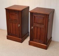 Pair of Walnut Bedside Cabinets c.1910 (5 of 8)