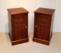 Pair of Walnut Bedside Cabinets c.1910 (8 of 8)