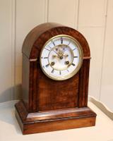 Walnut Arch Top Mantel Clock (2 of 9)