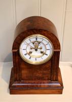 Walnut Arch Top Mantel Clock (3 of 9)
