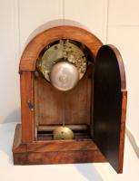 Walnut Arch Top Mantel Clock (4 of 9)