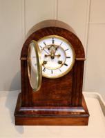 Walnut Arch Top Mantel Clock (8 of 9)