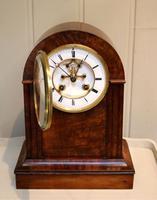 Walnut Arch Top Mantel Clock (9 of 9)