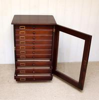 Mahogany Collectors Cabinet c.1890 (2 of 8)