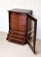 Mahogany Collectors Cabinet c.1890 (3 of 8)