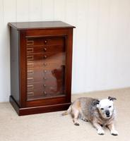 Mahogany Collectors Cabinet c.1890 (7 of 8)