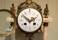 French Marble & Brass Clock Garniture (10 of 10)