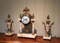 French Marble & Brass Clock Garniture (3 of 10)