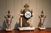 French Marble & Brass Clock Garniture (5 of 10)
