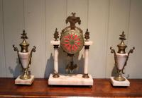 French Marble & Brass Clock Garniture (8 of 10)