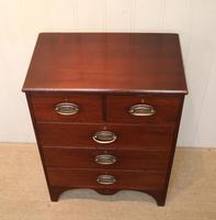 Small Edwardian Mahogany Chest of Drawers (8 of 8)