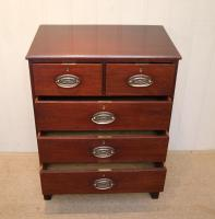 Small Edwardian Mahogany Chest of Drawers (5 of 8)