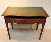 Mahogany Serpentine Front Writing Table (2 of 9)